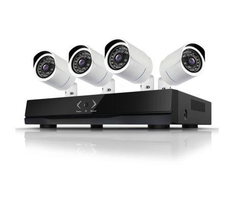 Övervakningssystem med 4x IP-kameror, 1.0MP. + NVR för inspelning mm.[2/3]