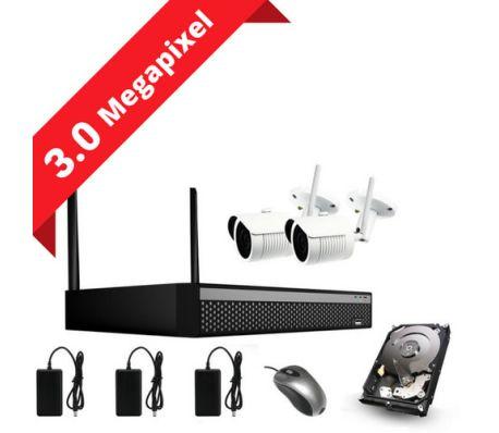 3MP övervakningssystem med 2 kameror (SONY sensors) inkl. allt[1/1]