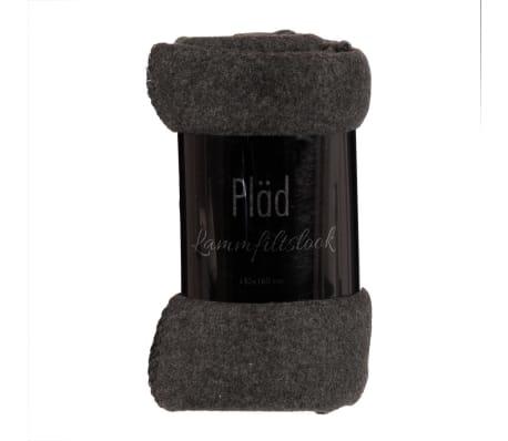 Solbacka Pläd Ullook 130x160cm mörkgrå filt[1/1]