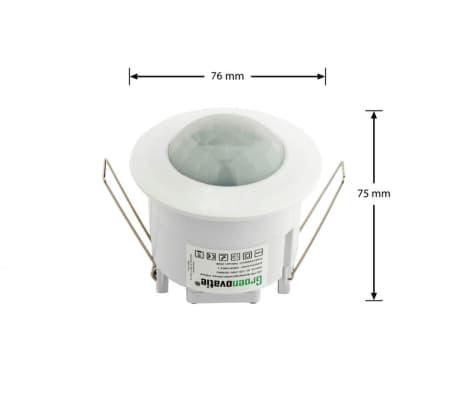 Groenovatie LED PIR Bewegingsmelder/Sensor Inbouw Plafond, IP20, Wit[4/5]