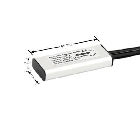 LED Deursensor Opbouw Incl. DC5.5 Kabels, DC 12-24V, 2.5A .[2/5]