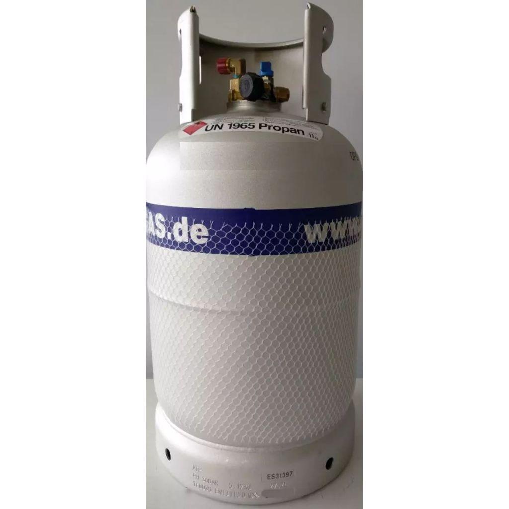 Broilfire 36 liter multivalve alugasdamptank met vulknie
