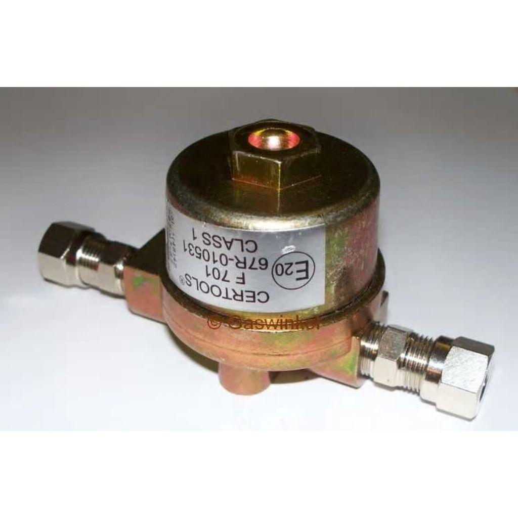 Broilfire Gasfilter met 2 x 12 mm knel koppeling