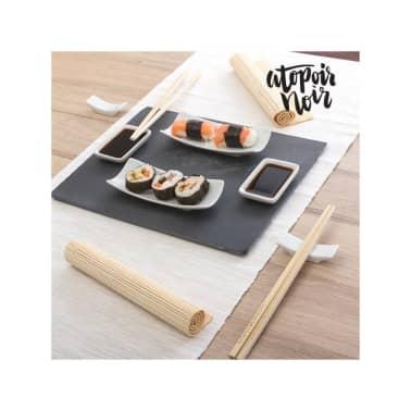 Set de Sushi avec Plateau en Ardoise Atopoir Noir (11 pièces)[1/1]