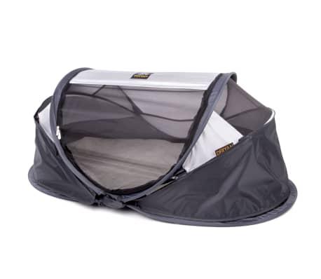 DERYAN Windschutz für Reisebetten Baby Luxe 100x30x0,5 cm Grau