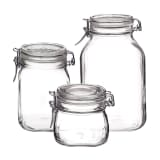 Bormioli Rocco 3 Piece Preserving Jar Set Fido Glass 149740S06021990