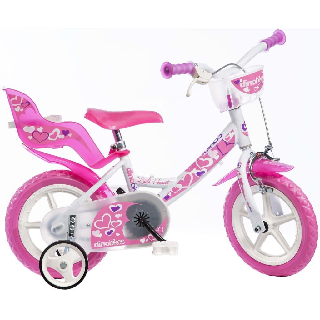 Dino Bikes Barnesykkel Little Heart rosa 30 cm DINO356010