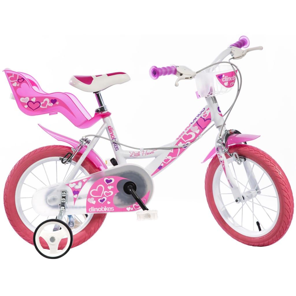 Afbeelding van Dino Bikes Kinderfiets Little Heart roze 40 cm DINO356013
