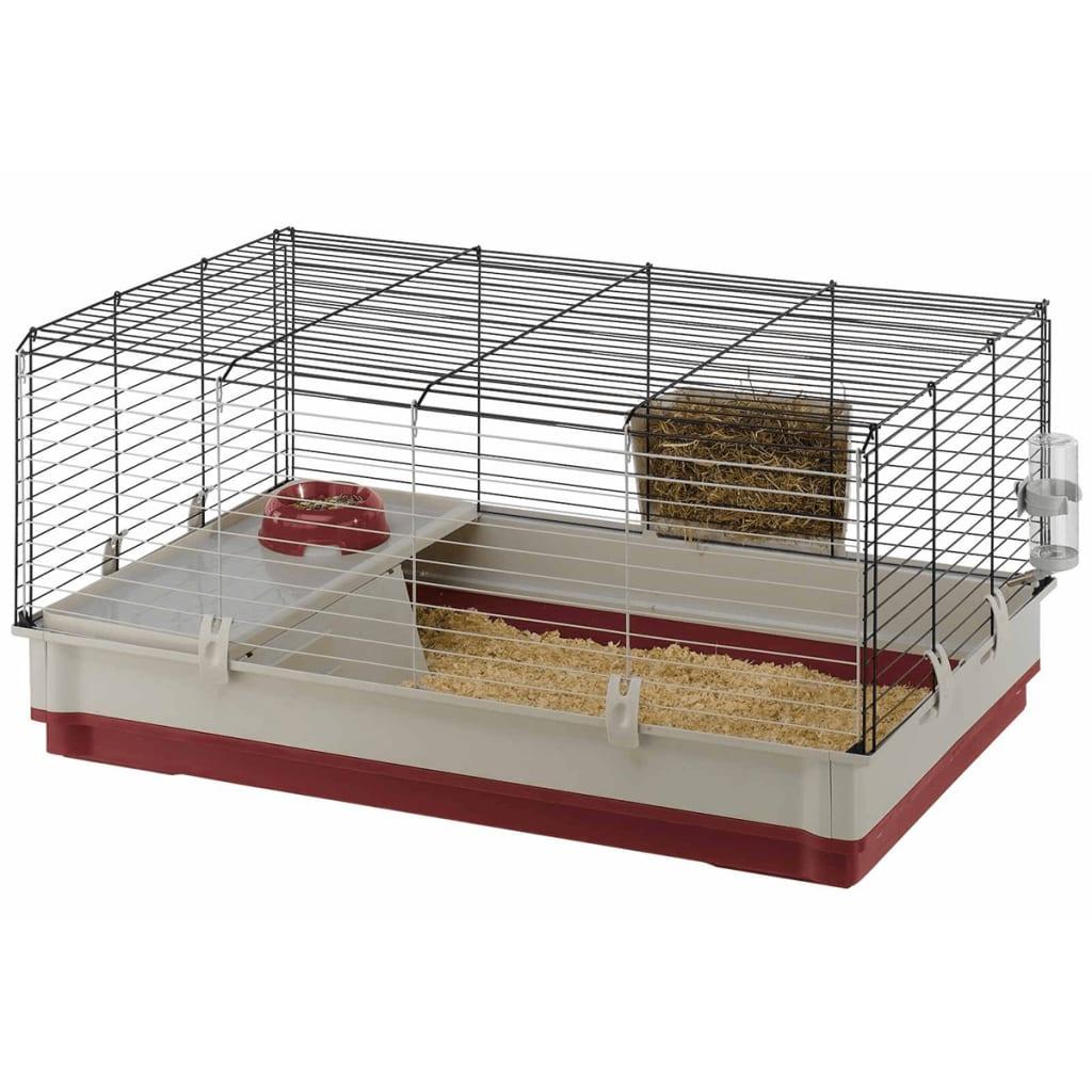 Ferplast-Cage-pour-Lapins-Krolik-100-L-100x60x50-cm-Bordeaux-Maison-de-Lapins miniature 2