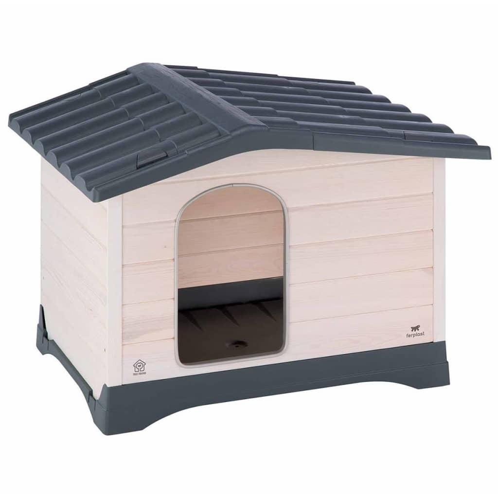 Afbeelding van Ferplast Hondenhok Lodge 70 grijs 73x59x54,5 cm 87247099