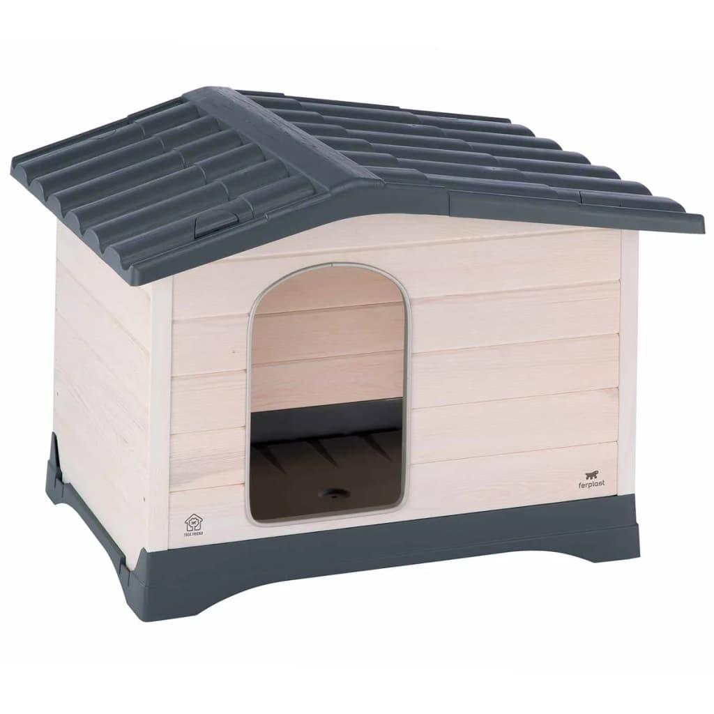 Afbeelding van Ferplast Hondenhok Lodge 90 88x72x66 cm grijs 87248099