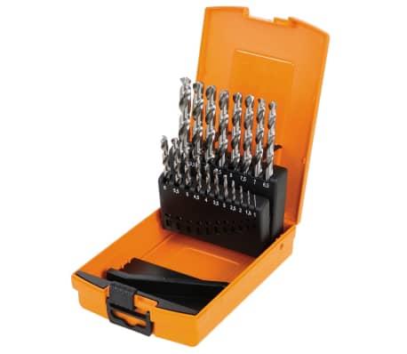 Beta Tools 19-częściowy zestaw wierteł 412/SP19, stal, 004120419