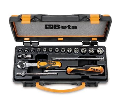Beta Tools Spärrhandtag med bitssats 18 delar 900/C13-5 009000953[1/2]