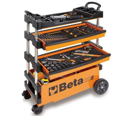 """Beta Tools sammenklappelig værktøjsvogn """"C27S-O"""" orange stål 027000201[2/7]"""