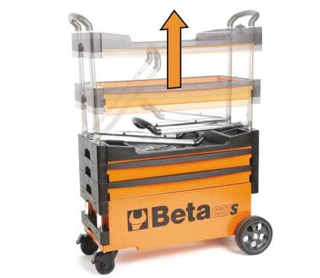 """Beta Tools sammenklappelig værktøjsvogn """"C27S-O"""" orange stål 027000201[6/7]"""