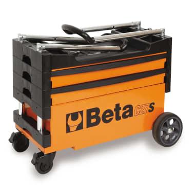 """Beta Tools sammenklappelig værktøjsvogn """"C27S-O"""" orange stål 027000201[3/7]"""