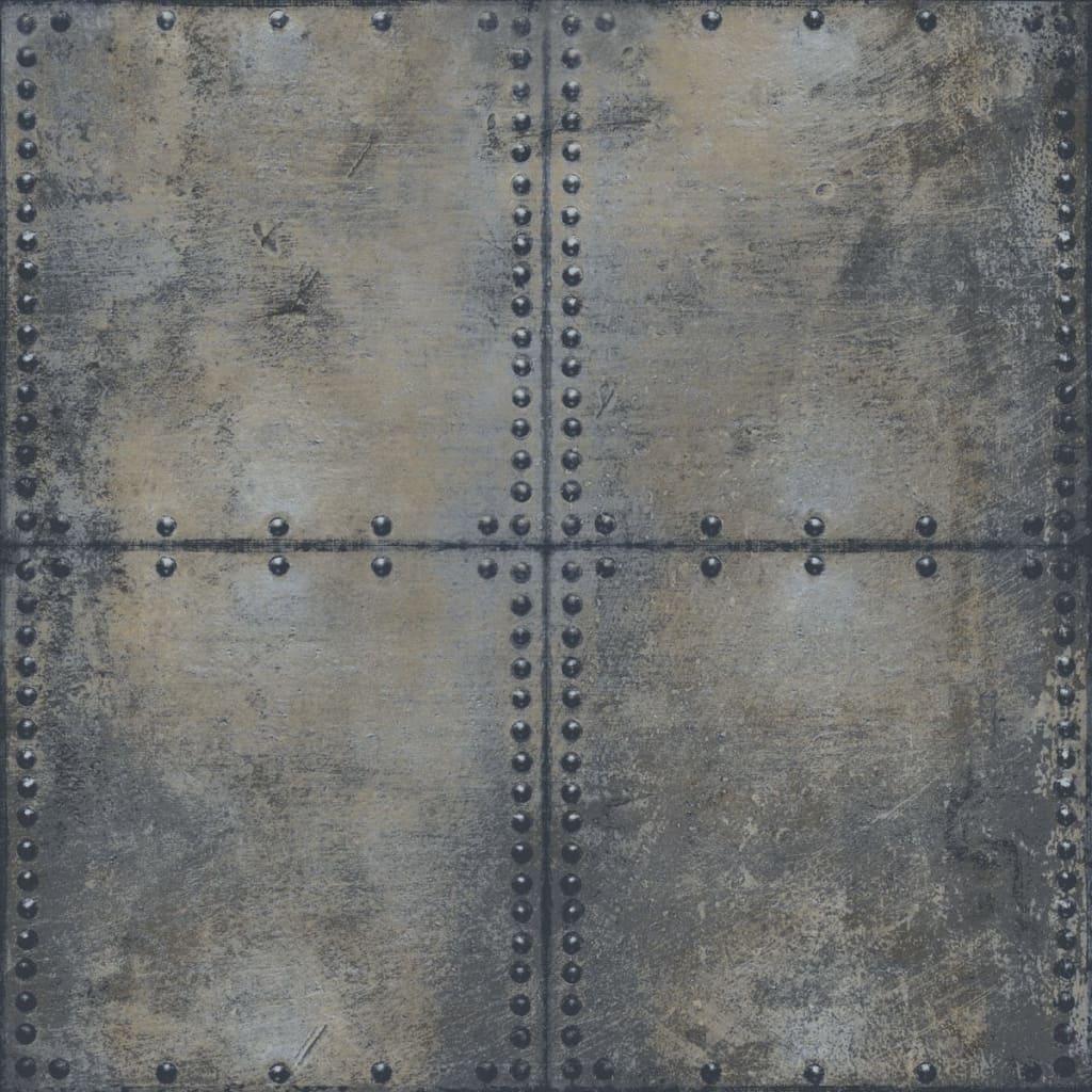 Urban Friends & Coffee Tapet bloc de beton, gri și negru vidaxl.ro