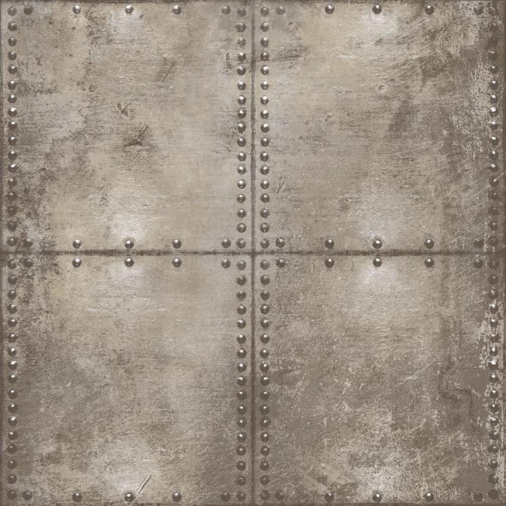 Urban Friends & Coffee Tapet stil plăci de beton, maro și gri vidaxl.ro