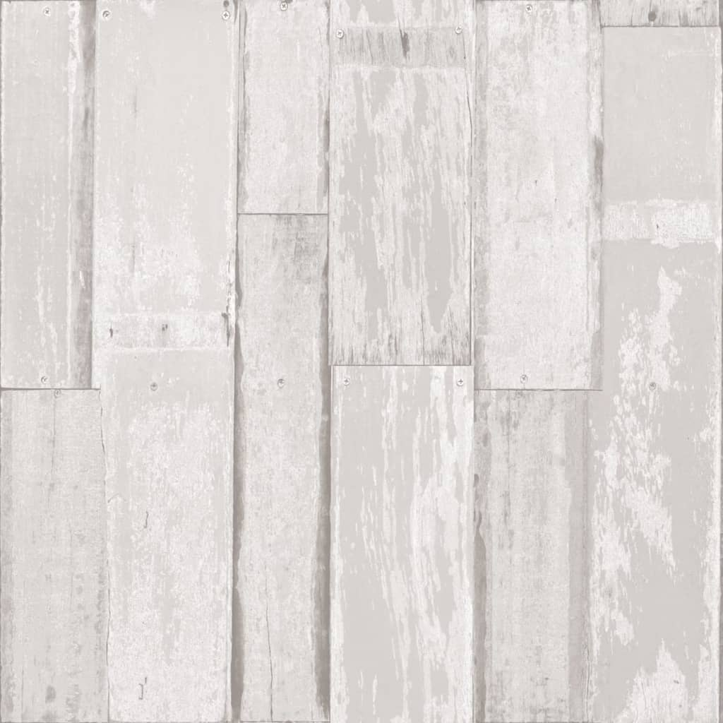 Urban Friends & Coffee Urban Friends & Coffee Behang houten planken wit