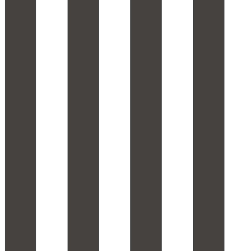 Urban Friends & Coffee Tapet cu dungi, negru și alb vidaxl.ro
