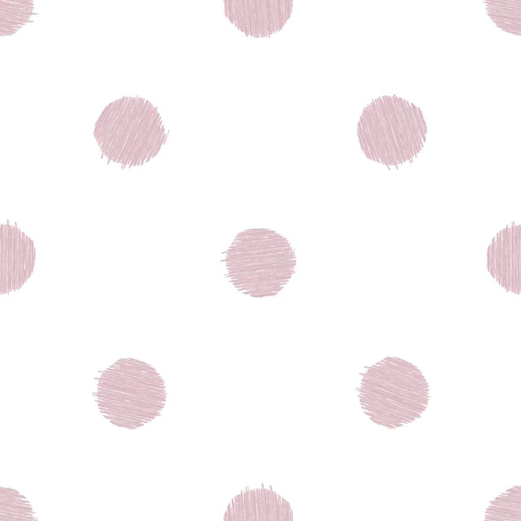 Urban Friends & Coffee Tapet cu buline, alb și roz poza 2021 Urban Friends & Coffee
