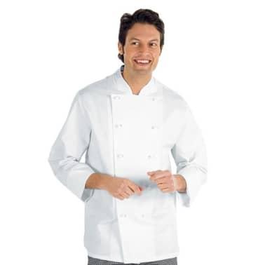 Veste De Cuisine Homme Manches Longues Isacco Enrica Vidaxl Fr