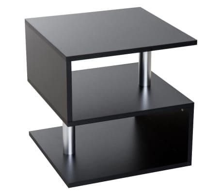 Tavolino Basso In Legno.Homcom Moderno Tavolino Basso Da Salotto In Legno Nero 50x50x50cm