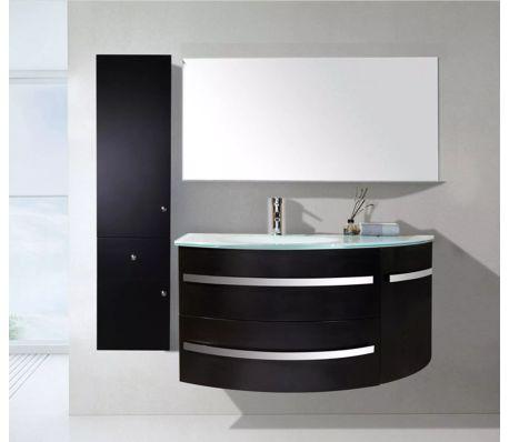 Mobile Bagno Completo.Mobile Bagno Arredo Bagno Completo 120 Cm Lavabo Rubinetti Black Ambas