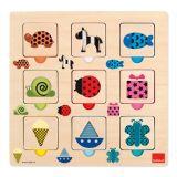 Goula doorkijkpuzzel met kleuren en patronen 18 stukjes