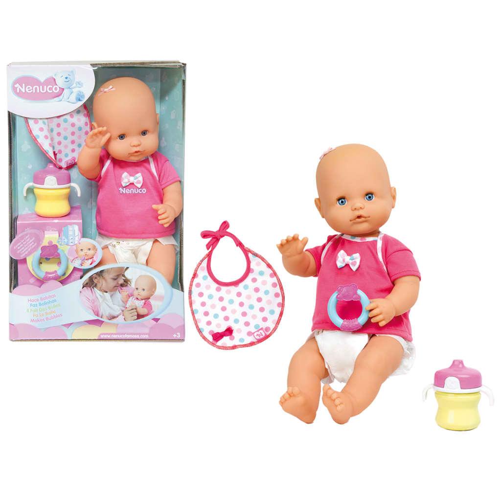 Nenuco Baby macht Bläschen Babypuppe Puppe Funktionspuppe Spielzeug Set 42 cm☺