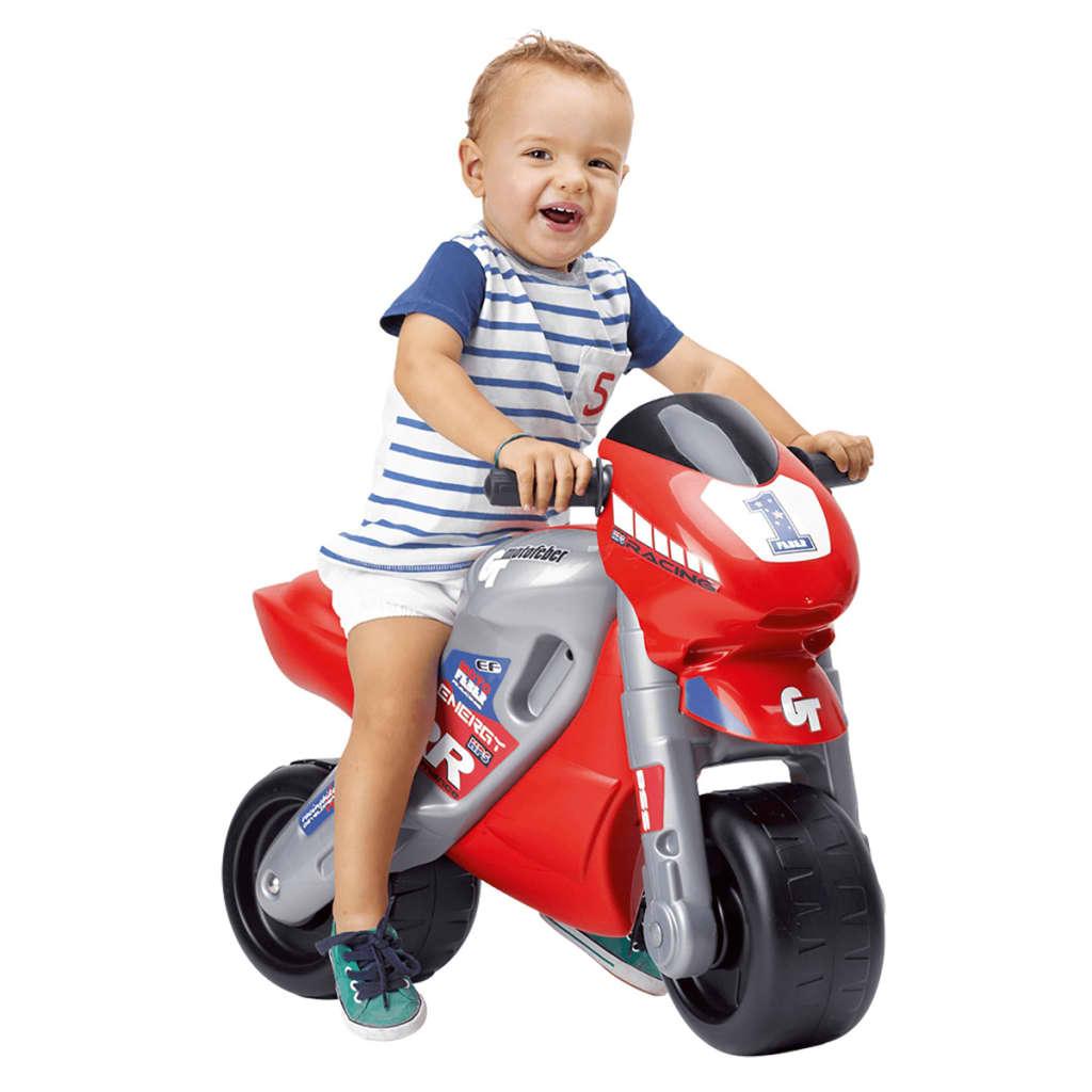 Feber Kinder Motorrad Laufrad Kinderfahrzeug Rutscher Kindermotorrad mit Helm☺