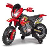 Feber Motocicleta infantil Motor Cross 400F rojo y negro 6 V