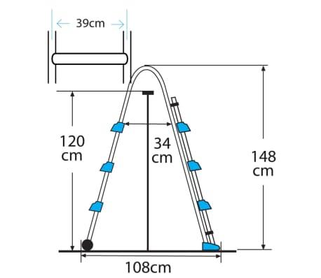 acheter gre chelle de piscine 3 marches 120 cm es1100 pas cher. Black Bedroom Furniture Sets. Home Design Ideas