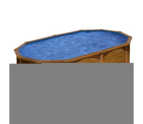 "Gre Piscine ""Pacific"" Ovale Marron 500 x 350 cm KIT510WB"