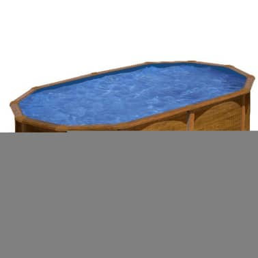 "Gre Piscine ""Pacific"" Ovale Marron 500 x 350 cm KIT510WB[1/2]"