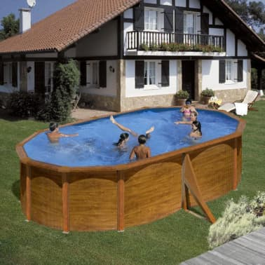 "Gre Piscine ""Pacific"" Ovale Marron 500 x 350 cm KIT510WB[2/2]"