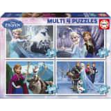 Puzzle de 50 à 150 pièces : 4 puzzles : La Reine des Neiges (Frozen)