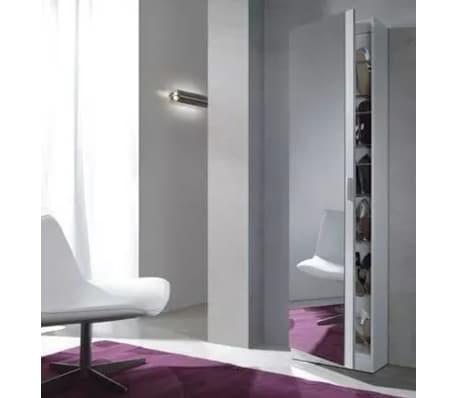 Zapatero 1 Puerta Espejo Blanc - FORES - 007866BO - 180X50X20