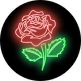 POPSOCKETS Neon Rose Självhäftande Hållare/Ställ