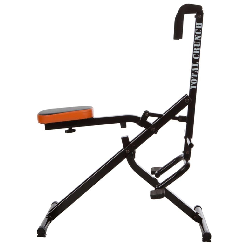 Total Crunch Aparat fitness exerciții cardio, negru, metal TOC001 poza vidaxl.ro