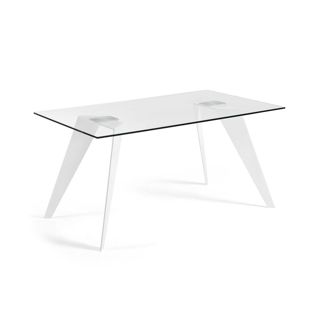 LaForma Laforma - Nack Eettafel 180X90 Transparant witte poten