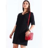 Encolure en V imprimée sur la robe - 029961 Taille 3XL