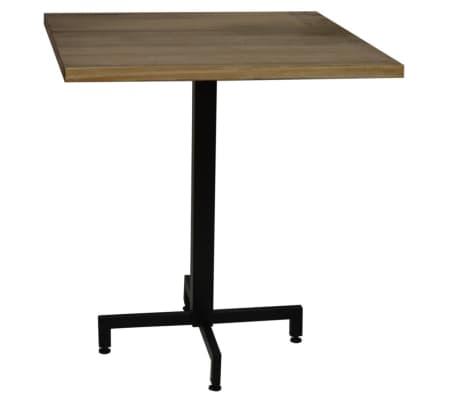 Tavolo gamba centrale nero e piano quadrato. 60X60x75h.cm