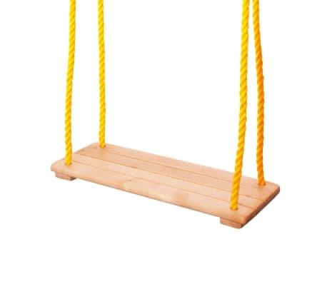 Swing Balançoire Avec Siège En Bois Naturel Jusqu'à 50 Kg