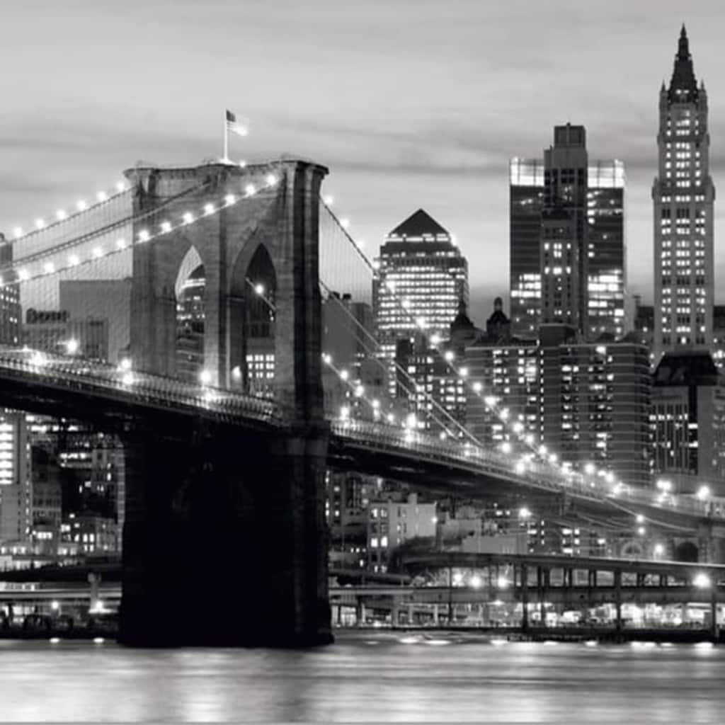 Afbeelding van AG Design Fotobehang Brooklyn Bridge B&W FTS0199