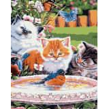 1pc Trois Chatons Oiseaux Fontaine d'Eau de Chat Kitty Animal de compa