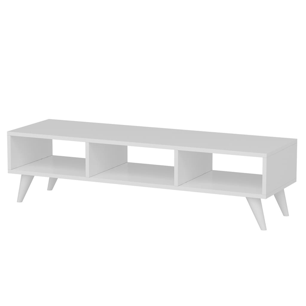 Homemania Szafka pod TV Manolya, 120x35x40 cm, biała