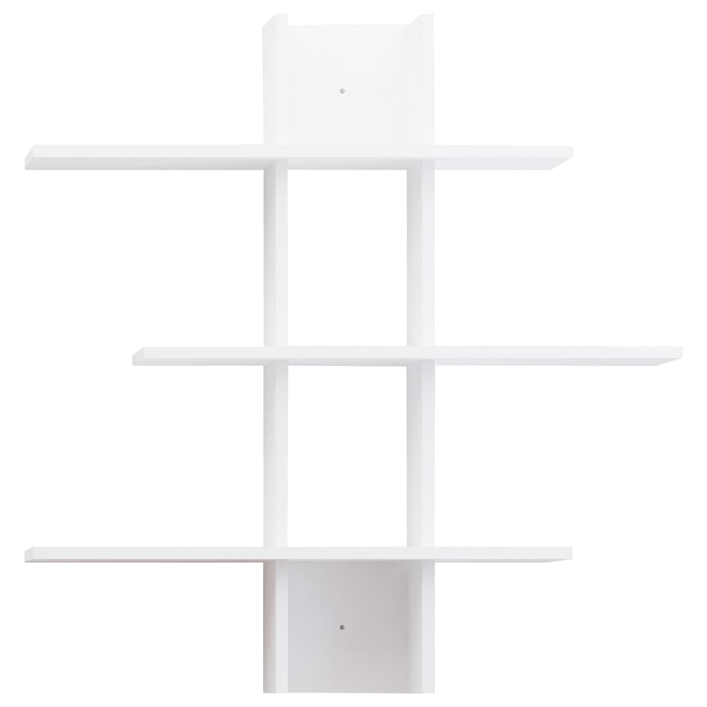 Homemania-Wandregal-96x18x101cm-Weiss-Haengeregal-Buecherregal-Wandboard-Regal Indexbild 3