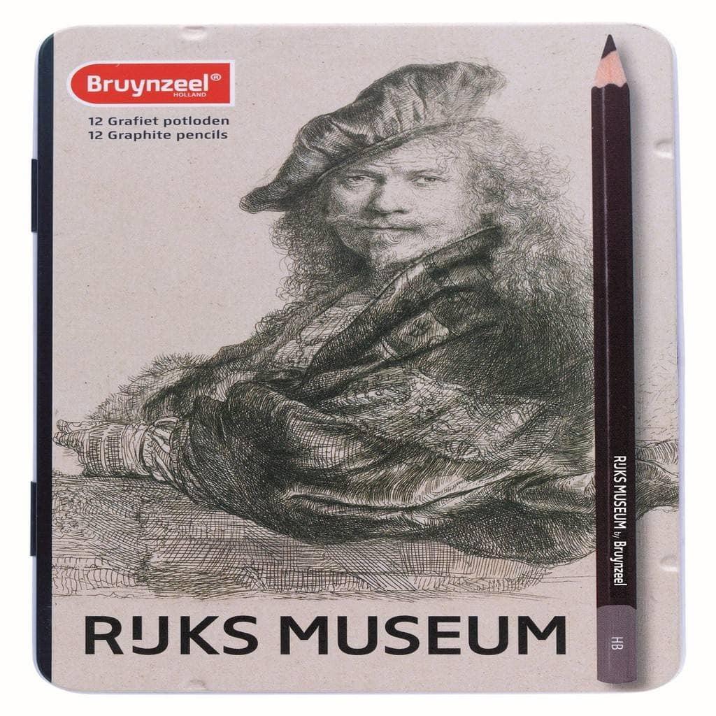 Afbeelding van Bruynzeel grafietpotloden Grote Meesters: 12 stuks