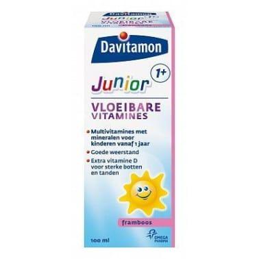 Davitamon Multivitaminen - Junior 1+ Vloeibaar Framboos 100ml[1/1]
